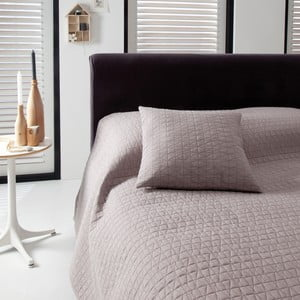 Prikrývka na posteľ Shape Taupe, 270x270 cm