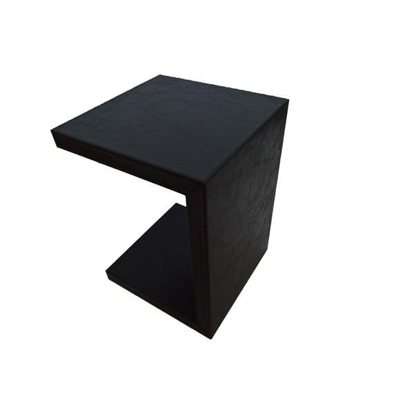 Koženkový odkladací stolík Side Wenge