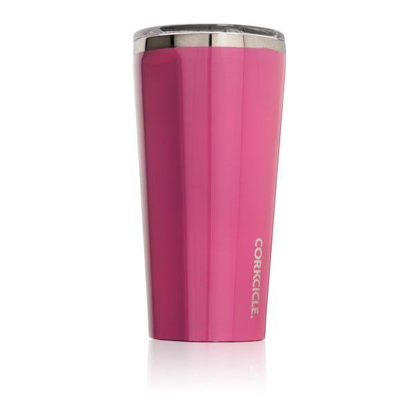 Ružový cestovný termohrnček Root7 Tumbler, 260ml