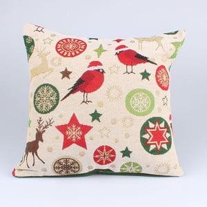 Vianočná obliečka na vankúš s vtáčikmi Dakls