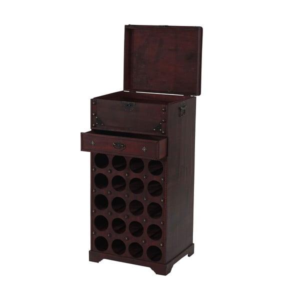 Hnedý stojan na 20 fliaš vína Mendler Shabby Colonial