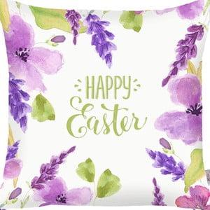 Obliečka na vankúš Apolena Happy Easter Flowers, 43×43cm