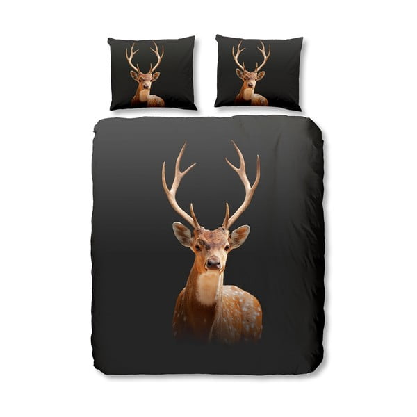 Obliečky Deer Anthracite, 140x200 cm