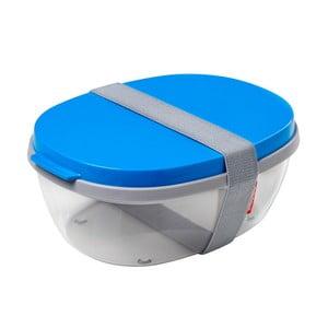 Šalátový box s modrým vrchnákom Rosti Mepal Ellipse