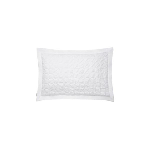 Biela obliečka na vankúš Bianca Origami, 50 x 75 cm