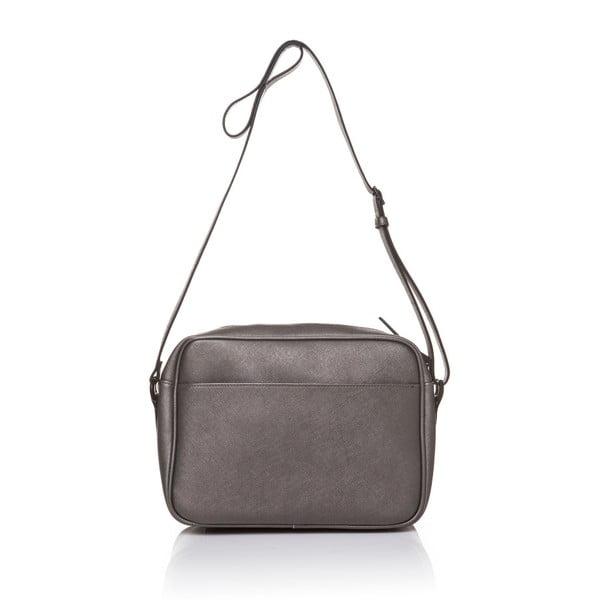 Kožená kabelka Marta Ponti Fusili Mini, sivá