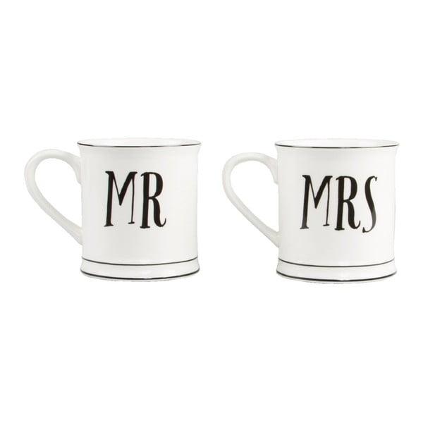 Sada 2 keramických hrnčekov Sass & Belle Mr & Mrs