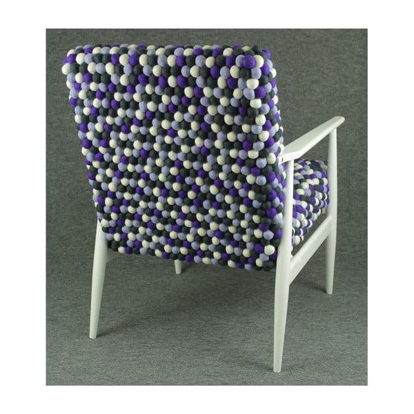 Ručne vyrobené guličkové kreslo Lavender Field
