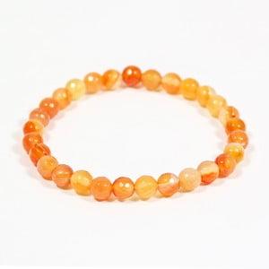 Oranžový náramok z prírodných minerálov s achátom Yogaly Tangerine Agate