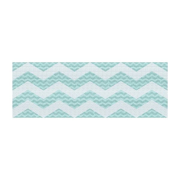Vinylový koberec Chevronmania Aqua, 50x120 cm