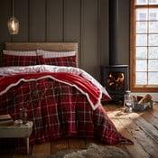 Červené posteľné obliečky Catherine Lansfield Tartan Check, 135 x 200 cm