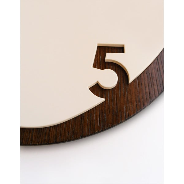 Hodiny Clock25 Dark Wood