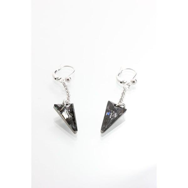 Čierne náušnice s krištáľmi Swarovski® Yasmine Crystal