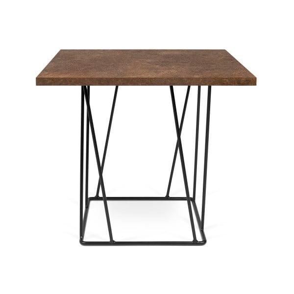 Hnedý konferenčný stolík s čiernymi nohami TemaHome Helix, 50cm