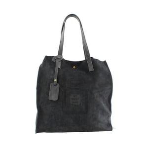 Kožená kabelka Perfume, čierna