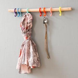 Vešiak s farebnými háčikmi Rainbow, 70 cm