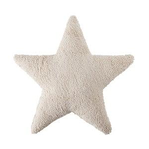 Krémový bavlnený ručne vyrobený vankúš Lorena Canals Star, 54 x 54 cm
