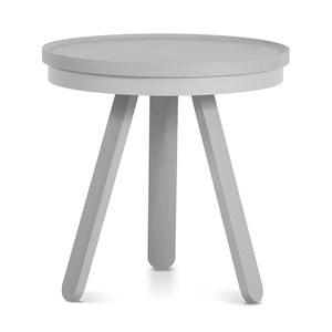 Sivý odkladací stolík z jaseňového dreva s podnosom Woodendot Batea S