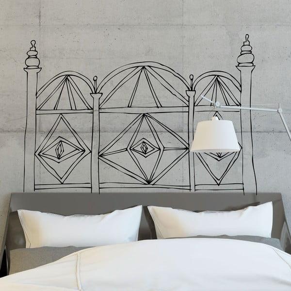 Samolepka Geometric Headboard White, 110x152 cm
