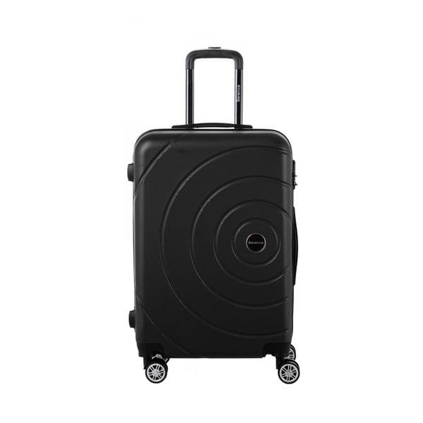 Čierny cestovný kufor Berenice Circle, 71 l