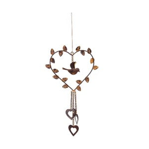Závesná dekorácia Antic Line Heart Bird