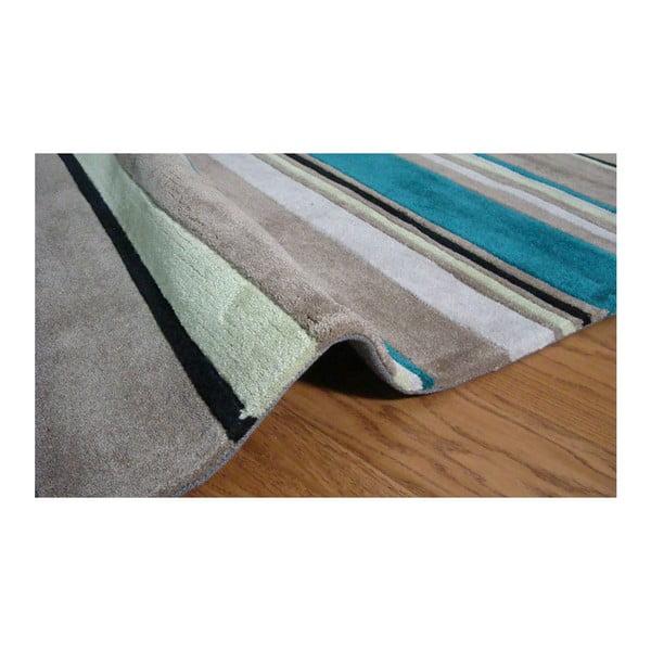 Koberec Broad Stripes Teal, 120x170 cm