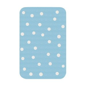 Detský modrý koberec Zala Living Dots, 67×120cm
