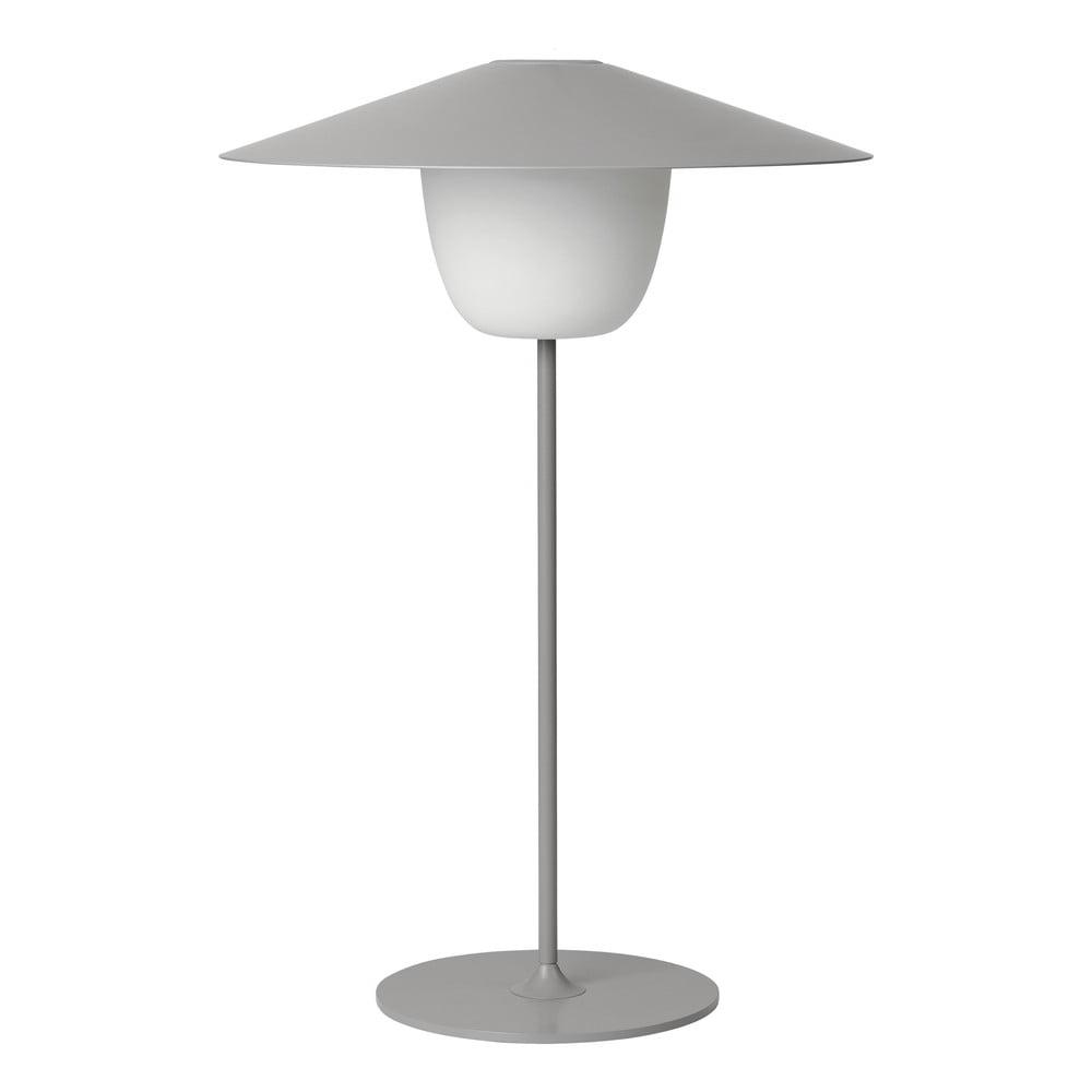 Svetlosivá stredná LED lampa Blomus Ani Lamp