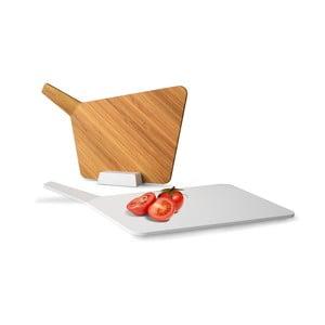Krájacie dosky so stojanom Chopping Board Set, biela