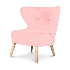 Ružové kreslo Opjet Swing