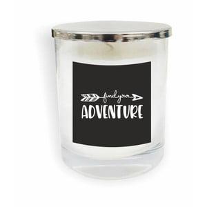 Biela sviečka North Carolina Scandinavian Home Decors Motto Glass Candle V4