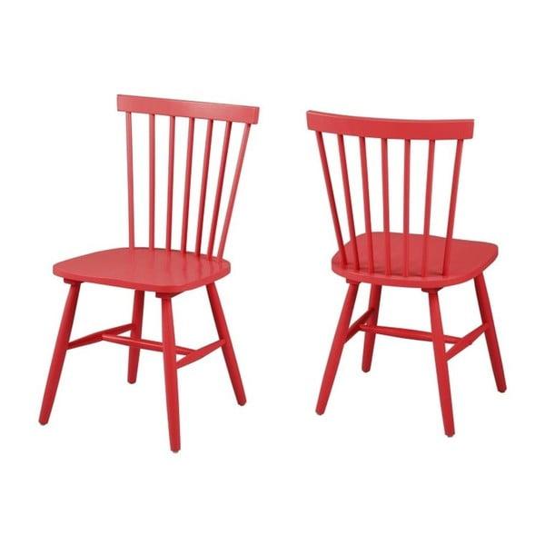 Červená jedálenská stolička Actona Riano