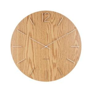 Svetlohnedé nástenné hodiny Karlsson Meek, Ø50cm