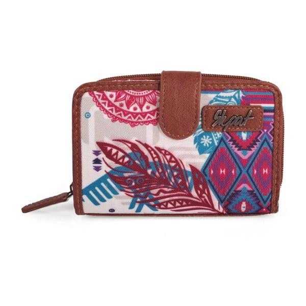 Ružovo-modrá peňaženka SKPA-T, 14 x 9 cm