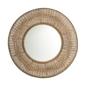 Zrkadlo s ratanovým rámom Tropicho, ⌀100cm