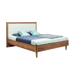 Biela dvojlôžková posteľ Mazzini Beds Scandi, 160×200cm