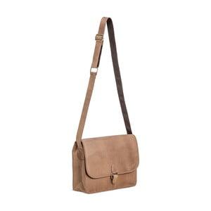 Svetlohnedá kožená taška cez rameno Packenger Aslang