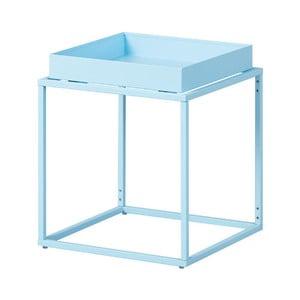 Svetlomodrý kovový odkladací stolík Intersil Club NY