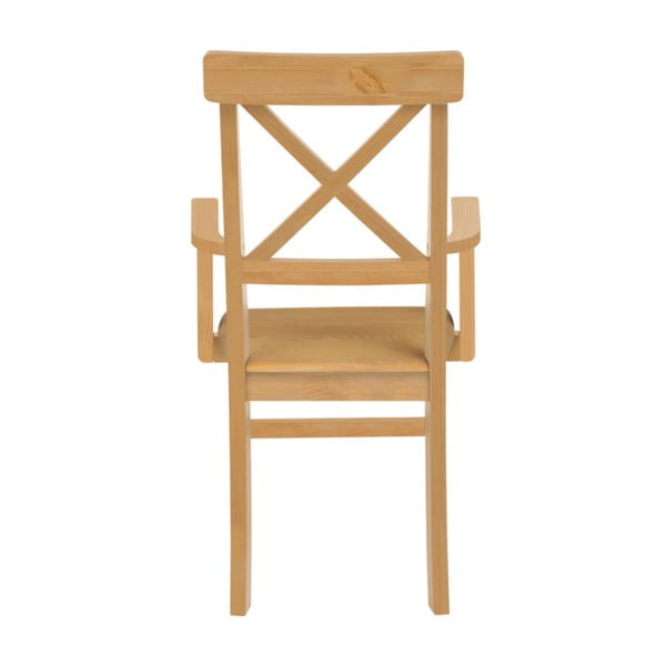 Sada 2 jedálenských stoličiek z borovicového dreva s opierkami Støraa Nicoline