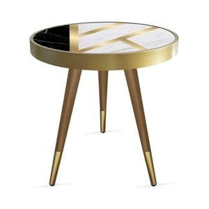 Príručný stolík Rassino Liny Marble Circle, ⌀ 45 cm