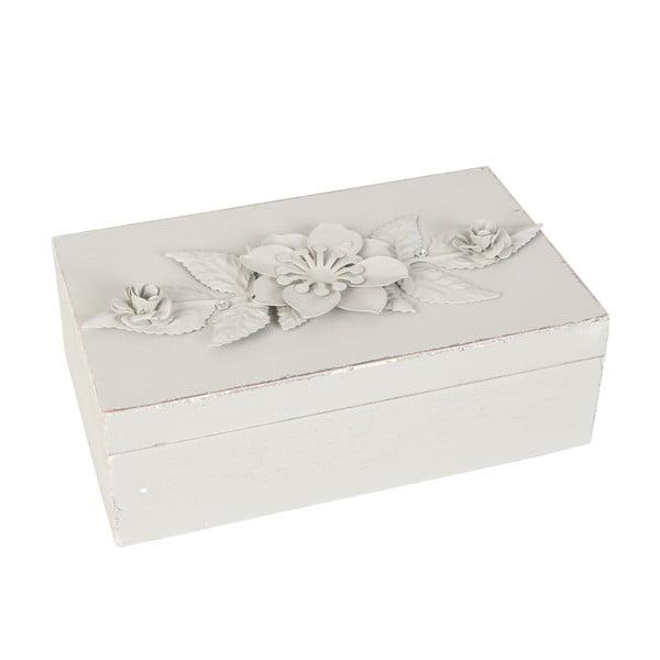 Drevená krabička Flower