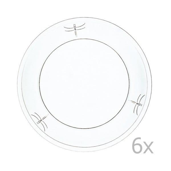 Sada 6 tanierov Libellules, 25 cm