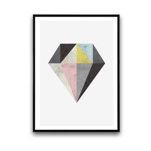 Plagát v drevenom ráme Diamond, 38x28 cm