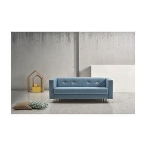 Modrá rozkladacia pohovka Suinta Botton, šírka 216 cm