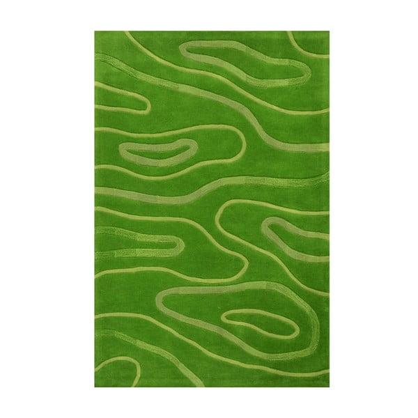 Ručne tkaný koberec Phoenix, 120x180 cm, zelený
