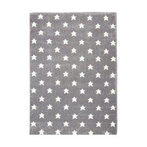 Sivý detský koberec Happy Rugs Stardust, 80x150cm