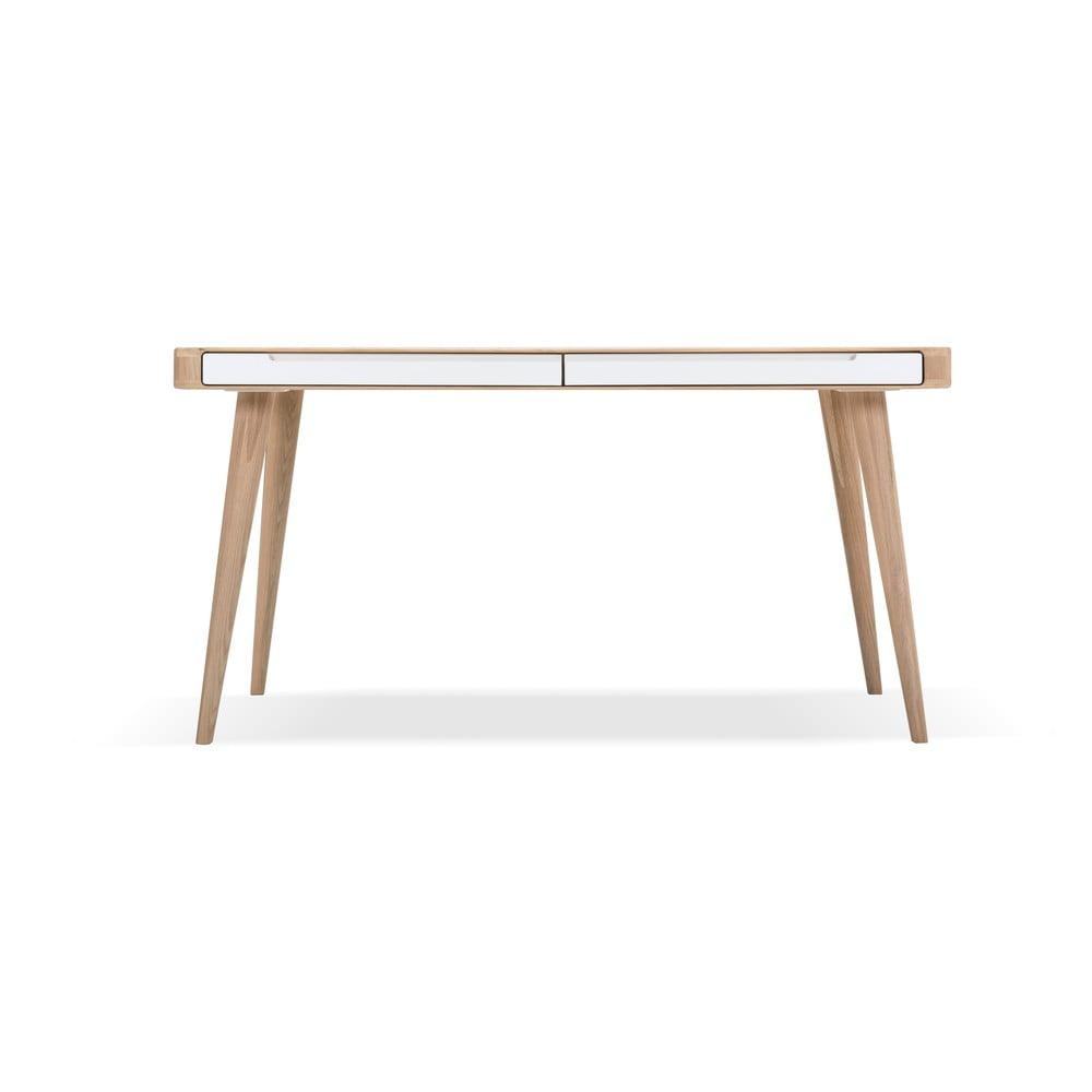Jedálenský stôl z dubového dreva Gazzda Ena Two, 140 × 90 cm