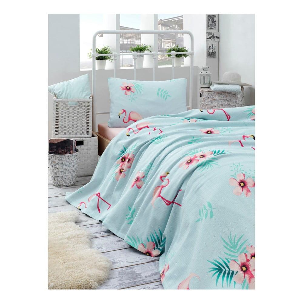 Set bavlnenej ľahkej prikrývky cez posteľ, plachty a obliečky na vankúš Missmo Russie, 160 × 235 cm