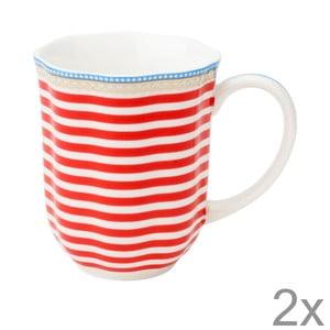 Porcelánový hrnček na kávu Happy od Lisbeth Dahl, 2 ks