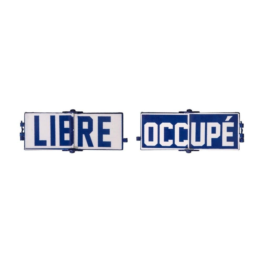 Plechová ceduľa Antic Line Libre Occupé